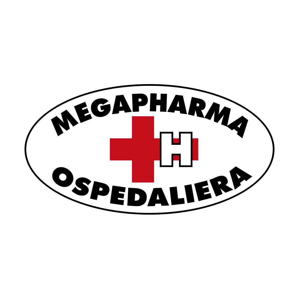 AdOpera, studio pubblicitario, comunicazione, immagine. Logo, naming, brand identity: MEGAPHARMA OSPEDALIERA