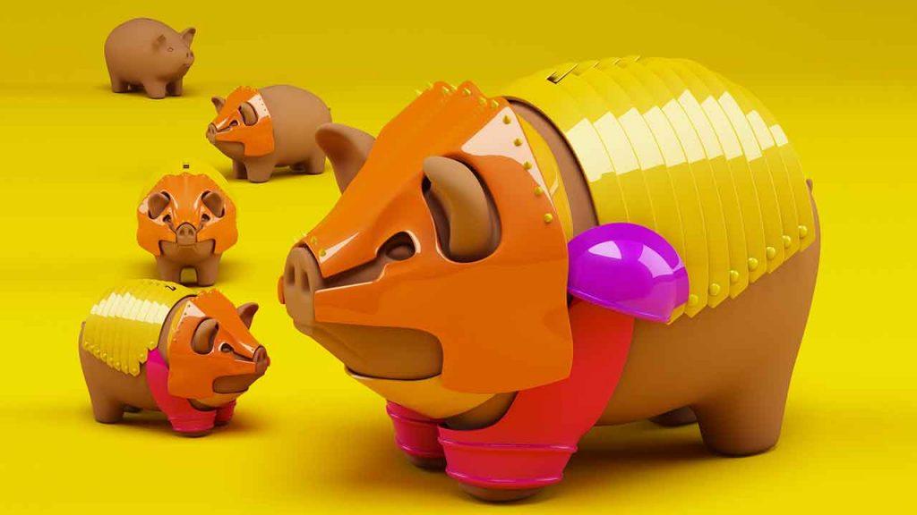 3D, Rendering, Design, Concept, Illustration | AdOpera: campagna stampa RISPARMIO CORAZZATO