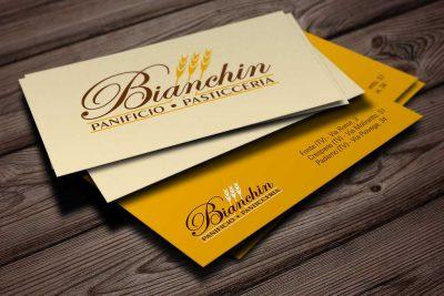 AdOpera, studio pubblicitario, comunicazione, immagine. Grafica, cataloghi, depliant, packaging: biglietti da visita BIANCHIN PANIFICIO