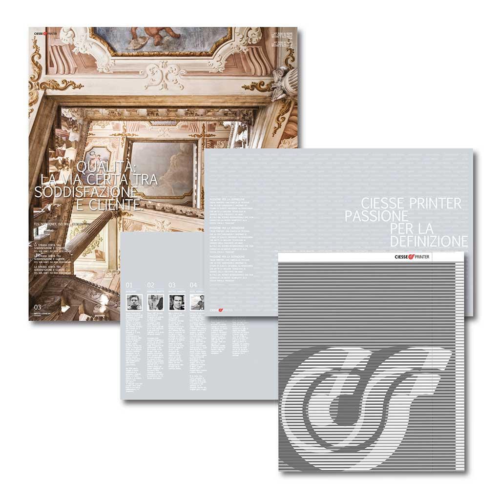 AdOpera, studio pubblicitario, comunicazione, immagine. Grafica, cataloghi, depliant e packaging: Brochure istituzionale TIPOGRAFIA CIESSE