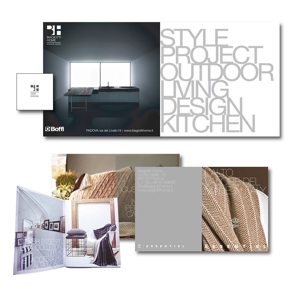 AdOpera, studio pubblicitario, comunicazione, immagine. Grafica, cataloghi, depliant e packaging: Folder prodotto BIAGIOTTI HOME