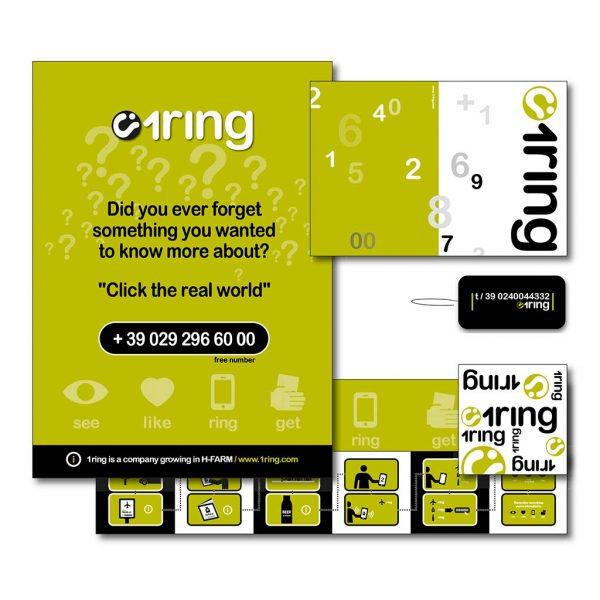 AdOpera, studio pubblicitario, comunicazione, immagine. Grafica, cataloghi, depliant e packaging: Locandina e pieghevole 1RING