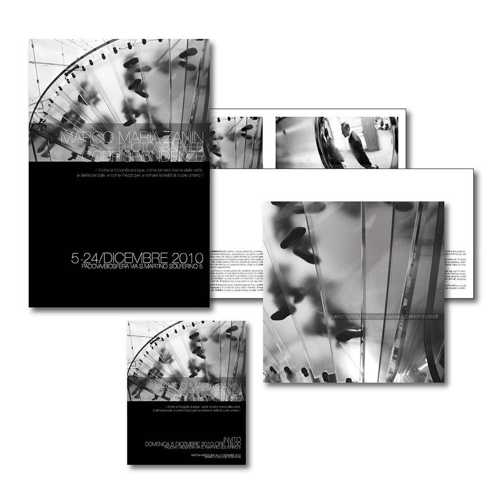 AdOpera, studio pubblicitario, comunicazione, immagine. Grafica, cataloghi, depliant e packaging: Folder mostra fotografica MARCO MARIA ZANIN
