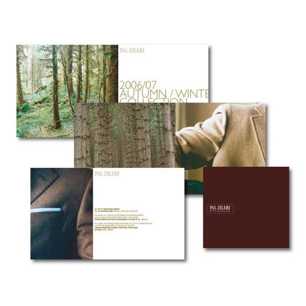 AdOpera, studio pubblicitario, comunicazione, immagine. Grafica, cataloghi, depliant e packaging: Folder prodotto PAL ZILERI ABBIGLIAMENTO