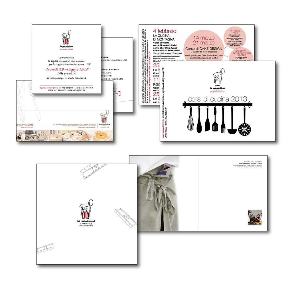 AdOpera, studio pubblicitario, comunicazione, immagine. Grafica, cataloghi, depliant e packaging: Brochure istituzionale LA MANDOLINA CATERING