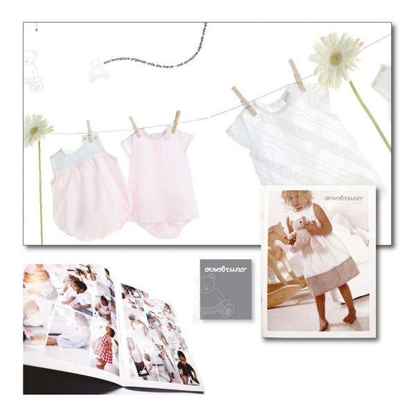 AdOpera, studio pubblicitario, comunicazione, immagine. Grafica, cataloghi, depliant e packaging: Catalogo ORSO BRUNO ABBIGLIAMENTO BAMBINO