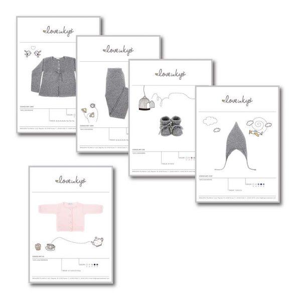 AdOpera, studio pubblicitario, comunicazione, immagine. Grafica, cataloghi, depliant e packaging: Schede prodotto LA MAGLIERIA ITALIANA